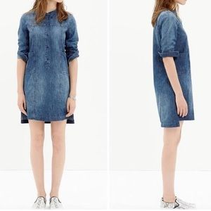 Madewell Downshift Denim Shirt Dress